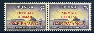 TONGA 1967 Air Mail ERROR AIRMAIL ABOVE OFFICIAL Pair + Normal SG O21/O21a MNH