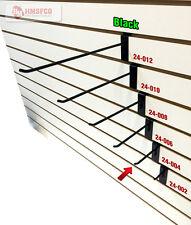 """4"""" Slatwall Metal Hooks (24-004BL) - 100 Piece - Black (NEW)"""