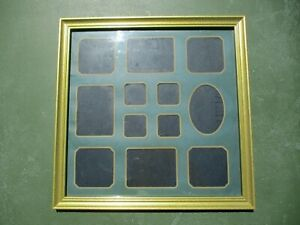 Solid Wood 14x14 Picture Frame Matting Family Photo Collage Vintage Country VTG
