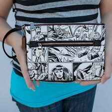 Coach 3578 Marvel Gallery Pouch Comic Book Print Limited Chalk Black