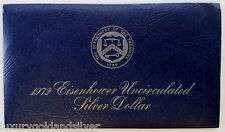 1972-S Uncirculated 40% Silver Eisenhower IKE Dollar Coin  Uncirculated With COA