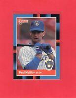 1988 Donruss baseball  #249  PAUL MOLITOR  Milwaukee Brewers Hall of Fame