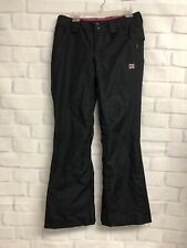 DC Women's Snowboard Pants Sz M Snow Ski Insulated Black Pink Logo  P1