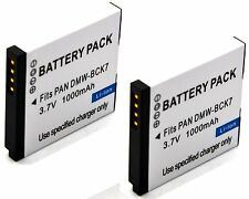 2x 3.7v Battery Pack for Panasonic Lumix DMC-FH2 DMC-FH4 DMC-FH5 DMC-FH6 DMC-FH7