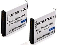 2x Battery Pack for Panasonic Lumix DMC-FP7 DMC-FS14 DMC-FS16 DMC-FS18 DMC-FS22