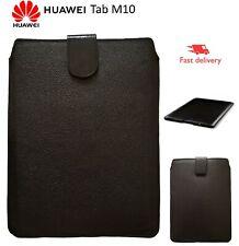 Luxury Leather Pull Tab Genuine LEATHER Case Sleeve HUAWEI TAB M10 TABLET