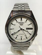 Orologio Seiko 5 Vintage Automatico Acciaio Data Completa 34mm Scontatissimo New