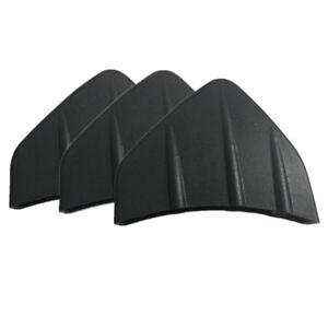 3pcs Universal Car Rear Bumper Diffuser Kit Shark Fin Moulding Chunks Black PVC