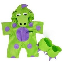 "Teddy Bear Clothes Green Dinosaur Monster Outfit 15-16"" fits Build a Bear"