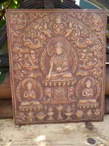 Asiatika kunst Relief wandrelief bild buddha feng shui 18. jahrhundert Replika