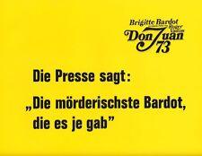 Don Juan 73 ORIG AH-Foto Brigitte Bardot / Jane Birkin