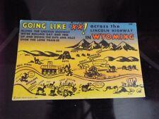 Lincoln Highway Wyoming Hell Ridge Crazy Woman Creek Comic Vintage Postcard d