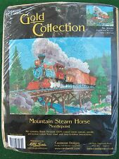 Candamar Mountain Steam Horse Gold Collection Needlepoint Kit 30930 Train