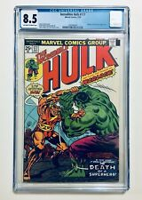 INCREDIBLE HULK #177, 1974, WARLOCK Battles HULK, 1st Death of WARLOCK, CGC 8.5