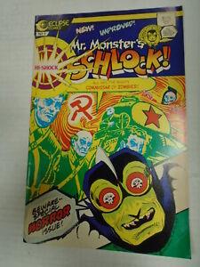 Eclipse MR. MONSTER'S HI-SHOCK SCHLOCK #1 (1987) Horror, Reprints, Fred Hembeck