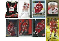 STEVE YZERMAN 12 different Hockey cards with inserts LOT L@@k Detroit Red wings