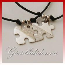 Bracciali Ciondoli Puzzle Diamantati Arg 925  Lui/Lei Incisione gratis bracelet