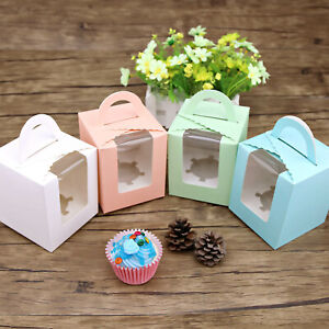 Cupcake Favour Boxes Bomboniere Wedding Birthday Gift Box Baby Shower 10/20x