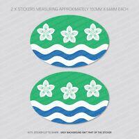 6 x DORSET County Drapeau Vinyle Stickers Autocollants Fenêtre Voiture Van-SKU6128
