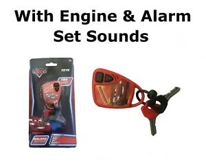 Car Keys & Fob Toy Sounds Disney Pixar Cars Lightning McQueen Engine & Alarm Set
