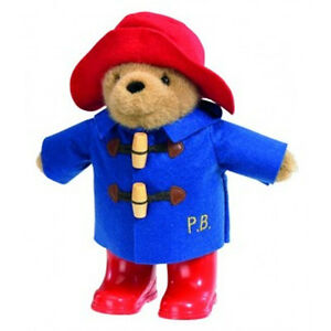 NEW PLUSH SOFT TOY Paddington Bear With Red Boots & Embroidered Jacket 22cm