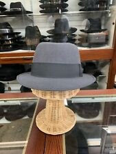 Borsalino Diamond Men's Fedora Hat Made In Italy Size 61 7 5/8