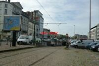 PHOTO  2012 BELGIUM TRAM BRUXELLES AVE MIDI TRAM NO 7940 EMERGING FROM SUBWAY >S
