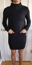 Lululemon Size 10 City Bound Dress NWT Black Pocket Sweater Casual Cozy Time Run