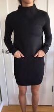 Lululemon Size 2 City Bound Dress NWT Black Pocket Sweater Casual Cozy Time