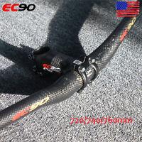 US 31.8mm EC90 MTB Bicycle Flat/Riser Handlebar 720-760mm Bar Stem 6° Ultralight