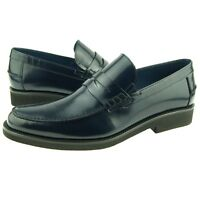Charles Stone Penny Loafer, Men's Dress/Casual Slip-on Leather Shoes, Navy
