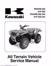 New listing Kawasaki service workshop manual 2002 & 2003 Prairie 650 4X4, Kvf 650 4X4