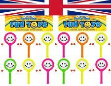 12 X Mini sonriente cara mano tambores Pinata Juguete Regalo Botín y Fiesta Bolsa Relleno Juguete,