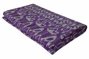 Indian Kantha Quilt Hand Block Gudari Bedding Blanket Throw Reversible Bedspread