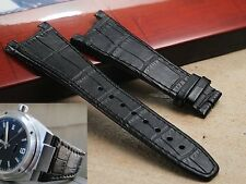 Genuine Leather metal structure band strap bracelet (FITS) IWC Ingenieur chrono