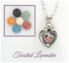 Mother and Child Aromatherapy Essential Oil Necklace Diffuser with 6 lava stones