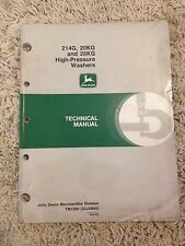 John Deere Technical Manual for 214G, 20KG and 25KG High Pressure Washers
