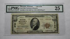 $10 1929 Phoenix Arizona AZ National Currency Bank Note Bill! Ch #3728 VF25 PMG