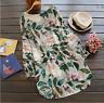 Fashion flowers round neck bat sleeve cotton hemp T-shirt tops blouse mini dress