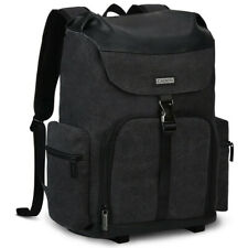 """CADeN Canvas Camera Backpack Bag with 15.6"""" Laptop Compartment and Tripod Holder"""