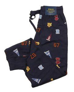 Polo Ralph Lauren Men's Navy Pep Rally Print Waffle Knit Sleep Jogger Pants