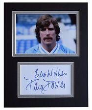 Paul Power Signed Autograph 10x8 photo display Manchester City Football COA