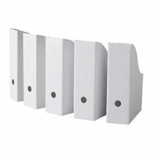 10 Ikea Cardboard Magazine File Holders Boxes Set Book Storage Organizer