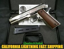 SALE HEAVY 3D CHROME METAL ITALY MOVIE PROP Pistol Replica 1911 Hand Gun COLT