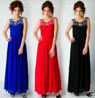 UK Long Formal Evening Prom Party Dress Bridesmaid Dresses Ball Gown Cocktail 16