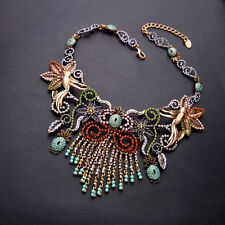 whole strand luxury glass colorful gem necklace US SELLER