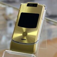 Original MOTOROLA RAZR V3 Gold 100% UNLOCKED Cellular Phone GSM Warranty FREE 99