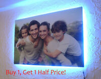 Your Photo To LED BACKLIT Canvas : 24 x 24 INCH : USB Powered Personalised Art