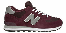 New Balance Ml 574 Low-Top Men's Shoes, Size 10 - Red/Silver