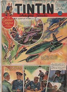 TINTIN n°183. 24 avril 1952. Bel état